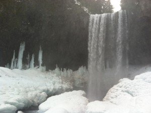 Icy trails lead to falls.